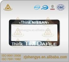 Stainless steel standard American size custom car license plate frame/license plate holder
