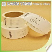 Hot Foil Stamping Metallic Transparent Clear Waterproof Adhesive Labels