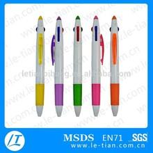 LT-P254 2015 New Design Promotional Multiple Colors Customized Plastic Ballpoint Pen
