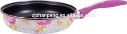 high quality Porcelain enamel fry pan cookware