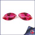 precio de venta al por mayor de piedras preciosas artificial de color rojo ruby marquesa de piedra