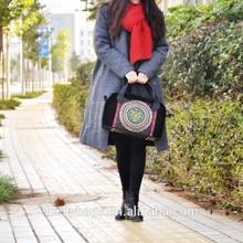 Fashionable 2015 ladies bag black lint the cheapest handbag
