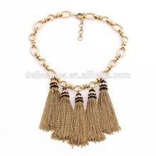 Exaggerate Tassel Design Cool Vintage Retro Cooper Necklace Pendant
