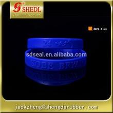 Sport Silicone Rubber Bracelet Basketball Wristband Kobe Bryant Lakers Signature