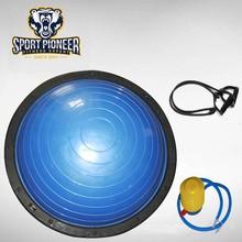 Bleu Anti Burst gonflable Bosu Balance formateur balle avec pompe à pied
