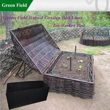 Campo verde canteiro de flores liner para cama do jardim
