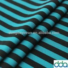 Fashionable knit cotton stripe fabric black and white wholesale