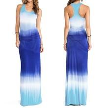 2015 fashion 100% cotton fancy long maxi dress