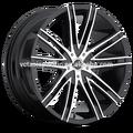 de aluminio de aleación de cromo sintonizador de mag rueda 18 20 22 24 26 v28 pulgadas negro máquina