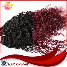 Factory Price Wholesale Ombre Color Human Hair Weftafro Kinky Human Hair Weft
