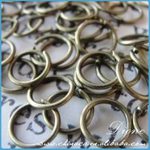 Recién llegado! caliente la venta de metal accesorios para la joyería, bronce antiguo 16 mm anillo abierto del salto, níquel libre del anillo del salto