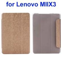 Silk Texture Three Folio Flip Leather Cover for Lenovo MIIX3