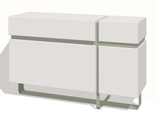 High gloss buffet, side board with MDF and stainless steel