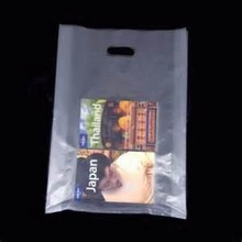 Cheap Transparent Logo Printed Die Cut Punch Plastic Bag