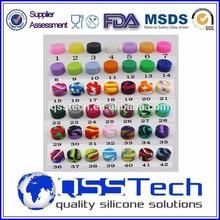 All size 3ml/5ml/7ml small silicone non-stick container/ silicone jars dab wax container