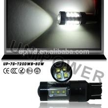 Wholesale High power Led 80W 24v 12v car led lights t20 w21/5w 7443 led bulb