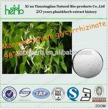 100% Natural Monoammonium glycyrrhizinate powder 98% UV Supplied by BV,ISO, KOSHER Manufacturer