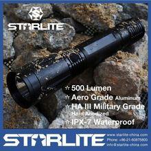 STARLTE Top Quality 6AA 500 Lumen IPX7 police flashlight defense