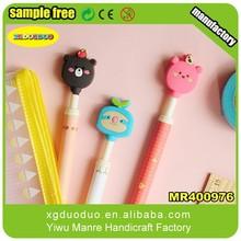 Customized cartoon logo pen/pencil topper for decoration