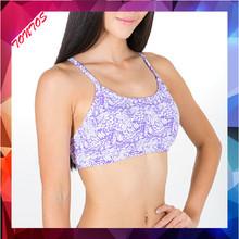 2015 latest design sexy full printing yoga bra