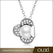 OUXI 11343-1 pearl flower fashion necklaces for women