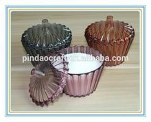 3D Crystal plastic sugar bowl or salt bottle MSD106