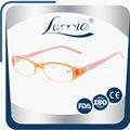 Últimas multicolores marco y lente reflectante calidad de las para mujer del acetato gafas de lectura nueva de diseño