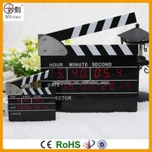 Mktime Patant Clock Big Movie Clapper Alarm Clock LED Digital Clock
