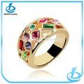 الجملة أزياء الزفاف مطلية بالذهب نظيفة الأحجار الكريمة الملونة عصابة