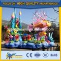 al aire libre cetnology equipo de la diversión del coche de peces flotador de carnaval