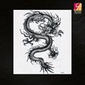 grande temporária tatuagens de dragão cool para o homem sexy corpo etiqueta do tatuagem preta mqc04