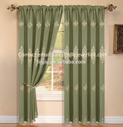 fashion valance semi-blackout finished curtain embroidery curtain,embroidered curtain