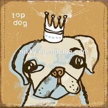 """ TOP DOG"" VINTAGE METAL SIGN, DECORATIVE RETRO METAL SIGN HOME DECOR"