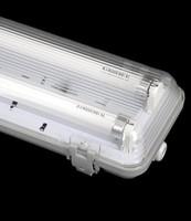 T8 waterproof fluorescent light fixtures IP65 LED tri-proof light fixture