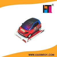 Mini toy car cartonn style with 3D light and music EN71 approval