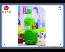 customized advertising green tea drink inflatable model for sale