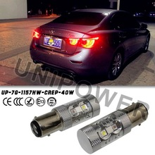 Super Bright 40W Bi-color white amber led turning light S25 1157 BAY15d bayonet light car led tail light for captiva cruze ect