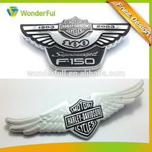 Souvenir use ABS plastic chormed auto emblem sticker eagle wing car emblem