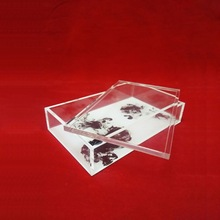 Fashion design printing acrylic food tray with cover
