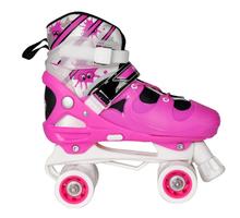 Girl bearing skate four wheel roller skate