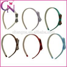 Wholesale Mini Grosgrain Hair Band With Hair Bow For Girls (CNHB-1308212)