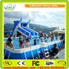 2015 cheap inflatable water slides double lane slip slide
