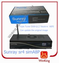 New Sim a8p card Sunray sr4 800se triple tuner wifi 300mpbs WLAN strong hd decoder