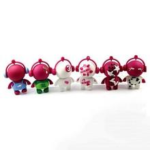 Novelty cartoon music boy Robot USB Flash Drives1GB/2GB/4GB/8GB/16GB/32GB USB Flash Drive Manufacturer