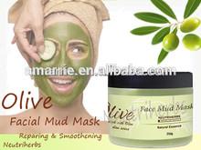 Herbal ingredients Olive Moisturizing & Smoothing sensitive face mud mask for hydrating, moisturizing