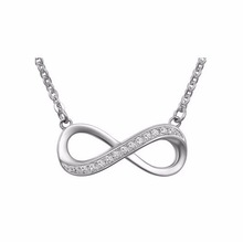 China high quality solid 925 silver / metal brass 8 infinity jewelry for girls