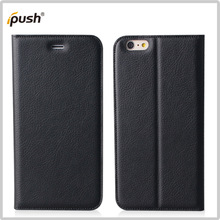 china product black pu flip leather case for iphone6