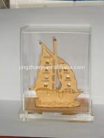 Brass Miniature Ship Model