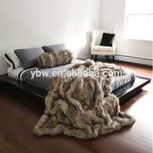 warm and luxury animal design faux fur throw blanket,PV fur blanket