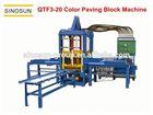 Best quality,Hot selling QTF3-20 automatic concrete hollow block machine, interlocking paving brick making machine